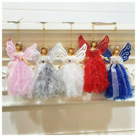 Christmas Wing Angel Doll Hanging Xmas Tree Pendants Ornaments Home Decor DIY