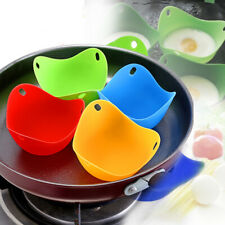 4pcs Silicone Colored Egg Poacher Poaching Poach Cup Pods Mould Kitchen Cookware