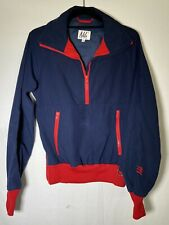 Vintage NILS Retro Red/Navy Blue Pull Over Jacket Women's Size Small Windbreaker