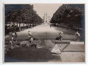 Milano - Via Ceresio - Foto Trabajos de Carretera - Pesca Deportiva - 1927