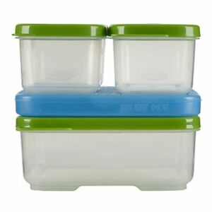 Rubbermaid LunchBlox Kit, Set of 5 (4 Containers and 1 Blue Ice)