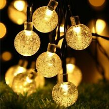 Crystal Ball String Light Christmas Decor Sphere Lamp LED Globe Fairy Lightning