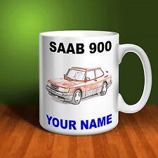 SAAB 900 Personalised Ceramic Mug Gift. (C003)