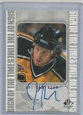 1998-99 UD SP Authentic Sign of The Times Auto Joe Thornton Boston Bruins