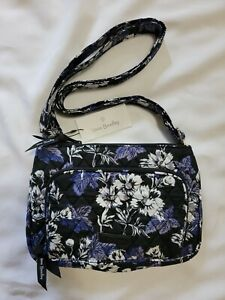 Vera Bradley RFID Little Hipster Crossbody, Frosted Floral, New with Tags