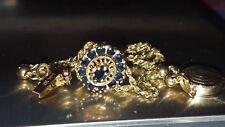 14k Rope Yellow Gold Klein KLJCI Sapphire Slide Bracelet Charm Bracelet