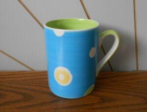 BLUE/GREEN/YELLOW/PURPLE/PINK SPOT ceramic/china coffee/tea mug WHITTARD
