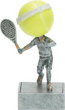 "Resin 5 1/2"" Tennis Bobblehead Trophy Award engraved"
