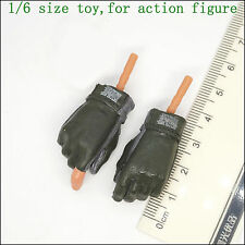 XB117-04 1/6 Scale HOT Male Green Glove Hands TOYS SOLDIER