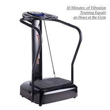 2000W Vibration Machine Whole Body Exercise Platform Crazy Fit Massager Black