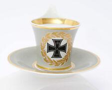 Patriotische KPM Berlin Tasse & Untertasse Eisernes Kreuz 1914 EK Campaner