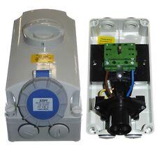 16 Amp Vertical Interlocked Socket 3 Pin Waterproof IP67 Caravan Garage Tools