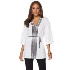 Maglie e camicie da donna maniche a 3/4 in cotone taglia XL