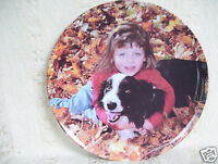 "Rare Melamine collector Girl & Dog 10"" Plate With Caring Instructions"