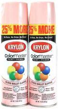 2 Cans Krylon 15 Oz ColorMaster 3405 Gloss Ballet Slipper Paint & Primer Spray