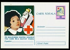 1958 Red Cross,Blood donation saves children lives !,Croix Rouge,Romania,PS card