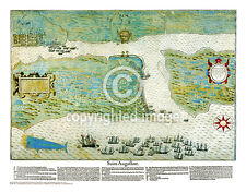 "19.5 x 25"" St. Augustine Vintage Look Map Printed on Frenchtone Parchment Paper"