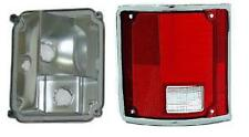 Fits 73 - 91 Suburban Blazer Jimmy Taillight Driver NEW Chrome Lens and Housing