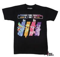 My Little Pony Arcade Rainbow Dash Pinkie Pie MLP Licensed Adult Shirt S-XXL