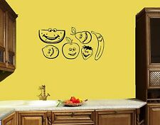 Wall Stickers Vinyl Decal for Kitchen Funky Fruit Apple Banana Watermelon ig1327