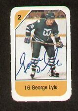 George Lyle signed autograph auto 1982-83 Post Cereal NHL Hockey Card