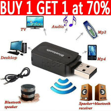 Bluetooth Audio Receiver Wireless Stereo Sender Adapter Aux USB For Car Kit UK