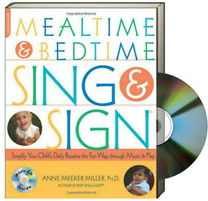 Mealtime and Bedtime Sing and Sign (sign language fun) FREE shipping $35