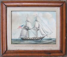 19th c. Gouache-American Brig Gen Armstrong-War of 1812-NR