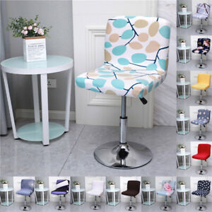 Bar Stool Chair Covers Floral Printed Front Desk Seat Chairs Protector Covers