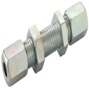 Hydraulic Tube x Tube Straight Bulkhead Coupling Light Series Compression