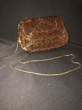 Vintage Nordstrom Copper Color Beaded Purse Excellent Condition Free Shipping