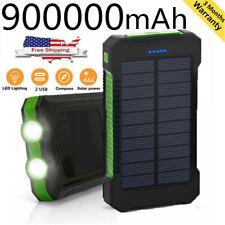 Nuevo Impermeable 900000mAh Portátil Power Bank Cargador Batería Externa Solar Pack