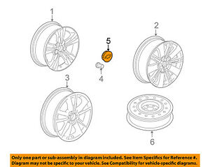 Chevrolet GM OEM 10-12 Equinox Wheel-Center Cap Hub Cover 9595318