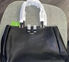 Kate Spade Nell WKRU5435 Pershing Street Black Leather Tote Shoulder Bag $499+
