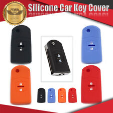 Silicone Car Key Cover Fits For MAZDA 2 Button MPS SP25 CX3 CX5 CX7 CX9