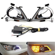 2pcs LED Daytime Running Light Yellow Turn Signal For Toyota Innova 2016 and up
