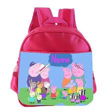 PEPPA PIG Kids Personalised School Nursery Shoulder Bag Rucksack Backpack