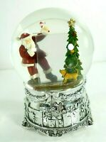 "Kirkland Musical Photo Frame Water Globe ""I Love Santa Clause"" Song Holiday"