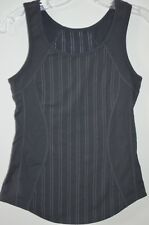 Lululemon Charcoal Gray Pinstriped Athletic Racer Back Tank Size 4