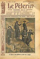Moines Moines Grand-Saint-Bernard col du Mont-Joux Suisse Dog 1911 ILLUSTRATION