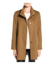 Fleurette Vicuna Stand Collar Loro Piana Wool Coat Petite 12P