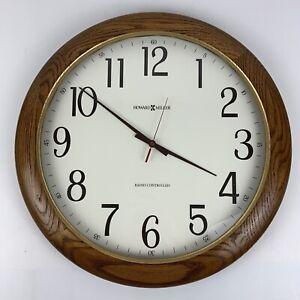 "Howard Miller 620-210 Dreese Accuwave Oak Wall Clock 19"""