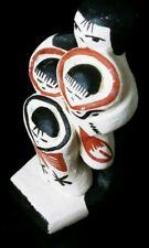 Vintage Native American Jemez Pueblo Indian Mini Storyteller Pottery Signed MC