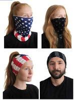 3 pc FACE MASK Neck Gaiter US Flag Bandana Scarf Tube Washable Reusable Bandana