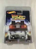 Hot Wheels Premium - Back To The Future Time Machine BTTF - FREE PROTECTOR