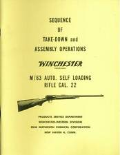 """Winchester Model 63 Sequence of Take-Down and Assembly Operations """"Original"""""""