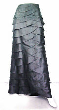 NEW Xscape by Joanna Chen Black Tiered Ruffle Formal Maxi Skirt Size 8