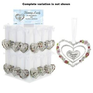 Ganz E8 Valentine's Day Love and Blessings 3in Heart Ornament Various Designs ER