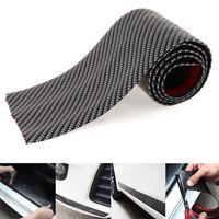 Car sticker carbon fiber rubber DIY door sill protector edge guardstrip10CM*1MEW