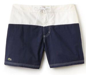 NWT Lacoste Mens Colorblock Taffeta Board Shorts/Swim Trunks, MH7093, sizes vary